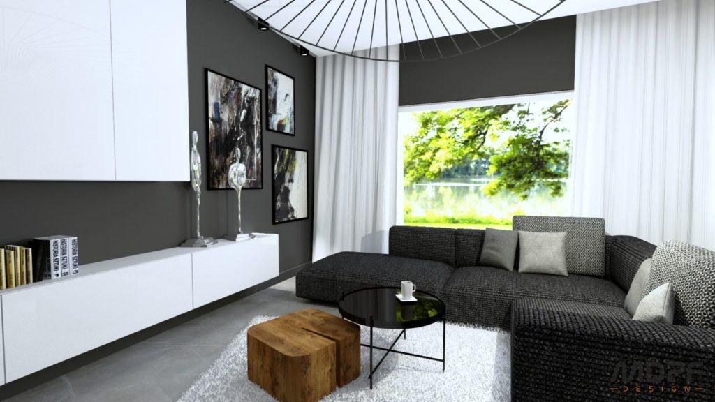 wizualizacja salonu w Tarnowie