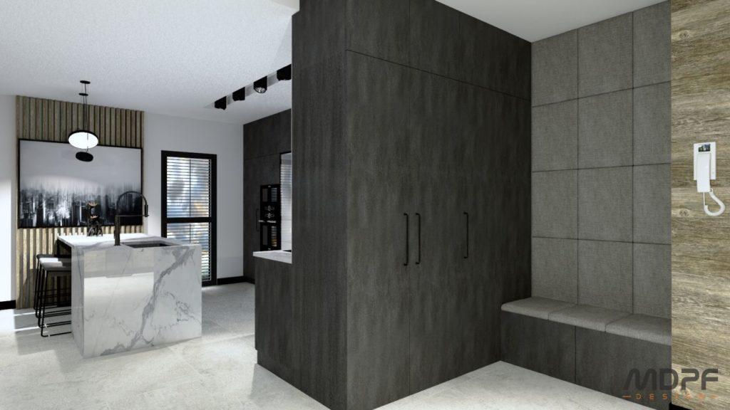 mieszkanie w Krośnie - wizualizacja wnętrza