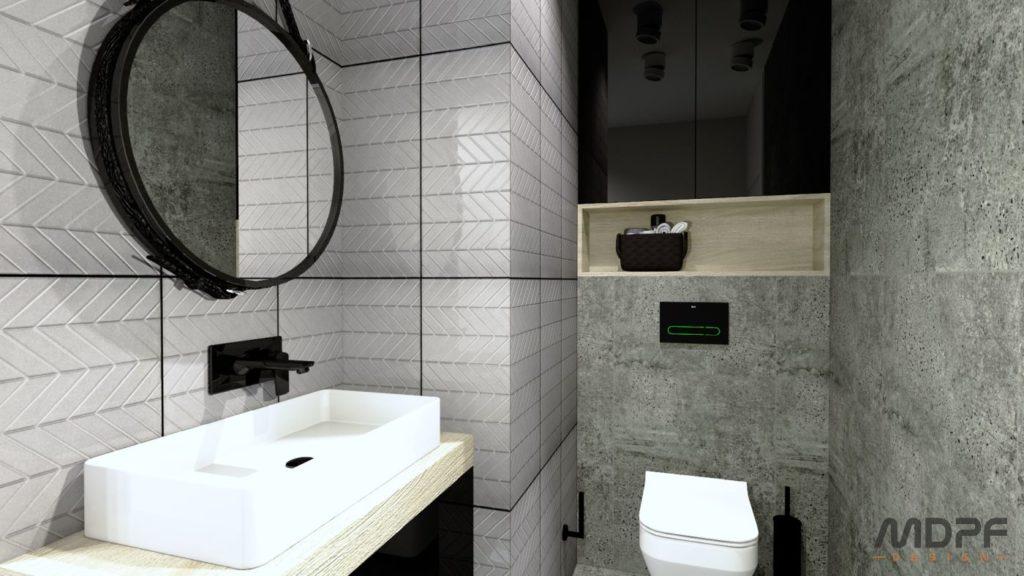 wizualizacja wnętrza - łazienka w Krośnie