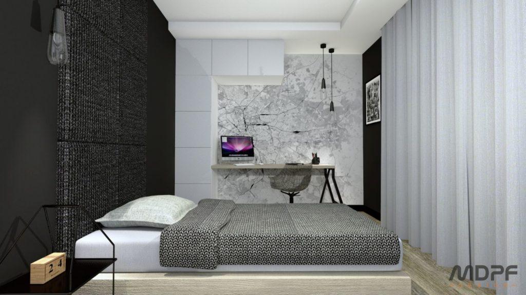sypialnia w Krośnie - projekt