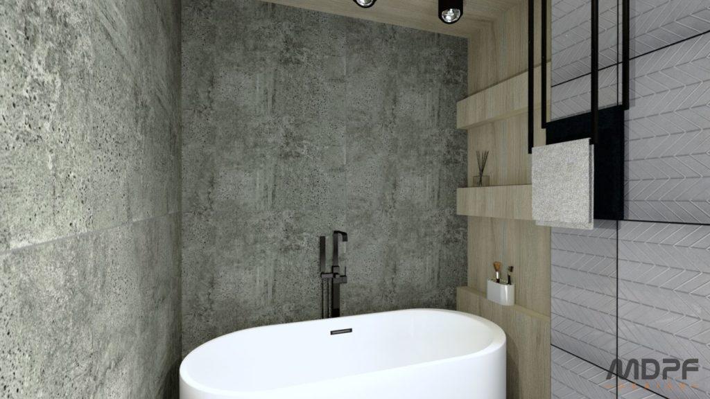 wizualizacja łazienki w Krośnie